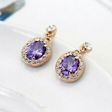 18K Rose Gold Filled Tear Drop Earrings Stud with Swarovski Crystals Ideal gift