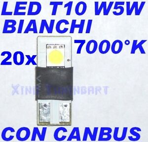 Nr 20 LED Bulb- White T10 W5W 7000 K No Error Check