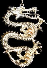 Hip Hop Dragon Pendant with Necklace - 24k Gold Plated Pendant