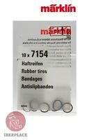 Märklin 7154 H0 escala 1:87 gomas trenes locomotora 10x Rubber tires Bandages