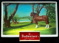 RARE VINTAGE BUDWEISER KING OF BEERS CLYDESDALE HORSE Light Up Sign WORKS!