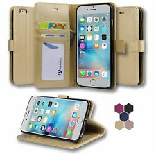 Abacus24-7 Gold Flip Wallet Case Cover for Apple iPhone 6/6S