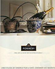 Publicité Advertising 1997  CHAMPAGNE POMMERY