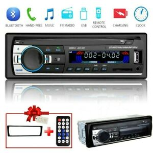 1 DIN Autoradio Stereo Auto Bluetooth Vivavoce Radio FM MP3 USB AUX  TF 12V