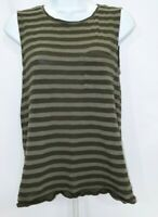 Women's Small Green Striped Banana Republic Tank Top