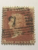 victorian penny red - large crown . perf 14 . red/ brown. b --- f