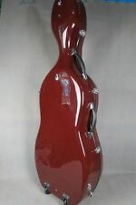 strong fiberglass hard cello case 4/4,dark red color cello case 4/4