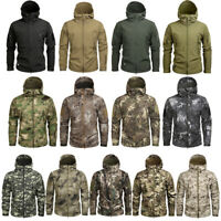 Waterproof Tactical Soft Shell Mens Jacket Coat Army Military Jacket Windbreaker