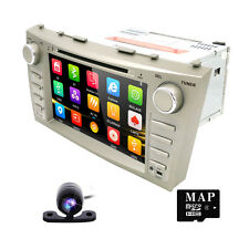 "HIZPO CAM+8"" Car in Dash DVD SD Player Radio Stereo GPS for Toyota Camry Aurion"