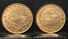 Ottoman Empire Turkey 100 gold Kurush-AUTHENTIC DATE NO RANDOM DATE--LUSTROUS #1