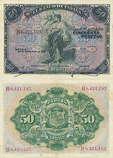 España - Billetes Alfonso XIII- Año 1906 - Nº 00318 - 50 pta. 1906 serie A/C EBC