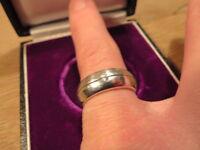 Moderner 925 Sterling Silber Ring Designer Massiv Zirkonia wie Diamant Solitär