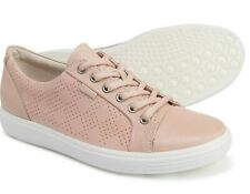 ECCO Womens Soft 7 Leather Fashion Sneaker Shoes ROSE DUST Size 41, US 10 - 10.5