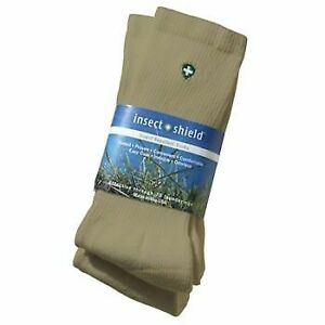 Insect Shield - 2 pairs crew socks - 76% combed cotton, 21% nylon & 3% lycra.