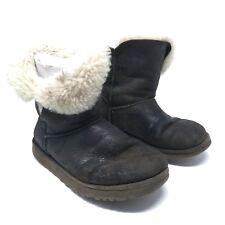 Ugg Australia Damen Boots Gr 38 UK 5.5 Braun Stiefel Bailey Button 5803 Lammfell
