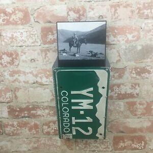 Colorado License plate letter/key holder,Cowboy letter & key holder Rustic decor
