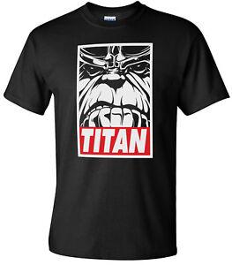 MAD Titan Obey Thanos Infinity Wars Men's Black T-Shirt