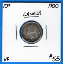 Canada 1900 10 Cents Ten Cent Silver Coin - Very Fine