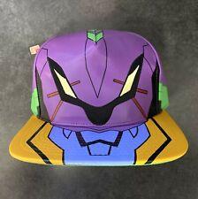 Neon Genesis Evangelion Unit 01 Snapback Hat Cap Anime Mecha Shinji Ikari NERV
