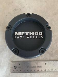 Method Race Wheels Rim Hub Cover Flat Matte Black Center Cap 1524B100-4-S1