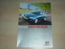 50415) Seat Cordoba Farben & Polster Prospekt 08/1999