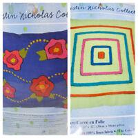 Kristin Nicholas Crewel Stitchery Pillow Craft Kit Lot 2 Roses You're Square Vtg