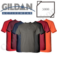 NEW Gildan Men's Heavy Cotton Plain Crew Neck Short Sleeves T-Shirt 5000 S~XL