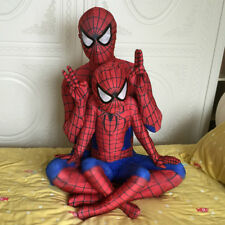Superhero Spiderman Adult Kids Boys Outfit Fancy Dress Party Cosplay Costume UK