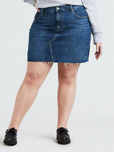 Levi's Deconstructed Jean Skirt with Studs, Plus Size Womens Size 20W NWTS