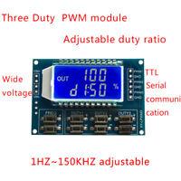 1PCS 3-channel PWM Pulse frequency adjustable duty ratio signal generator module