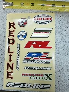 Redline Flight Cranks decals decal set NOS originals yellow old school BMX