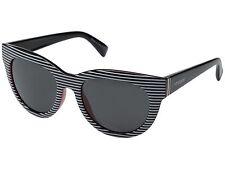 Von Zipper Queenie Sunglasses White Stripe / Black / Red / Grey  NIB