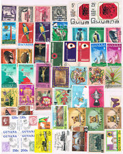 GUYANA 1966 - 1986 Collection (51 Different) CV $38+