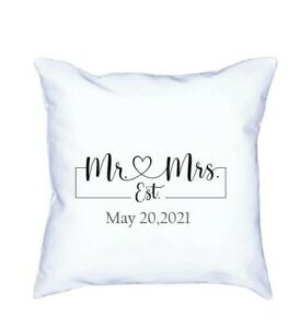 Mr And Mrs Pillow Cover with date