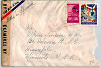 Dominican Republic 1944 Censor Cover to USA - Z13634
