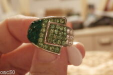 SP EMERALD AND PERIDOT GEMS MAN`S  RING