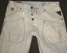 Replay Jeans 901  Klassisch gerade Naturweiss  Leichte Sommer Stoff  G