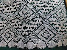 """Antique Vintage 19c Lace Chemical Schiffli Bobbin off white Trim 6.4' x 4"""" Nice!"""