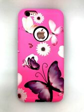 Sale !!! For iPhone 7 Butterfly  Hard Hybrid Case