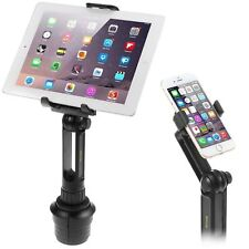 Cup Mount Holder iKross 2-in-1 Tablet and Smartphone Adjustable Swing Cradle W/