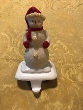 "Hallmark Snowman Stocking Holder Christmas 7-1/4"""
