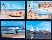 4 vintage postkaarten Belgische kust (jaren 70)