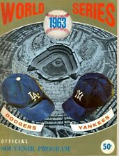 1963 World Series program, New York Yankees @ Los Angeles Dodgers,Fair~ unscored