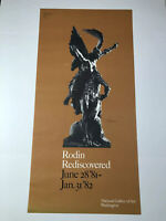 """VTG 1981-82 Rodin Rediscovered Exhibit Poster National Gallery Of Art 40""""x 19"""""""
