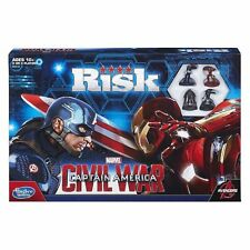 Hasbro Captain America Iron Man Game Risk - Civil War Board Game Inc 4 Figures