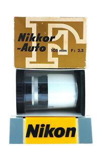 NIKON NIKKOR 105 mm F : 2.5 - CLASSIC - NEAR MINT IN ORIGINAL BOX.