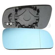 Driver Side BLUE WIDE ANGLE HEATED WING DOOR MIRROR GLASS for VW Golf MK4 96-04
