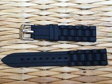 BRACELET MONTRE CAOUTCHOUC SILICONE /* WATCH BAND NOIR 18mm / REF.EV01