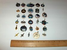 VINTAGE NASA 30 ITEM MIXED SPACE CHARM AND PENDANT LOT