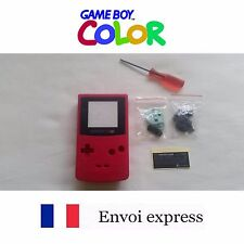Coque GAME BOY COLOR rouge fushia NEUF NEW + tournevis triwing -étui shell case